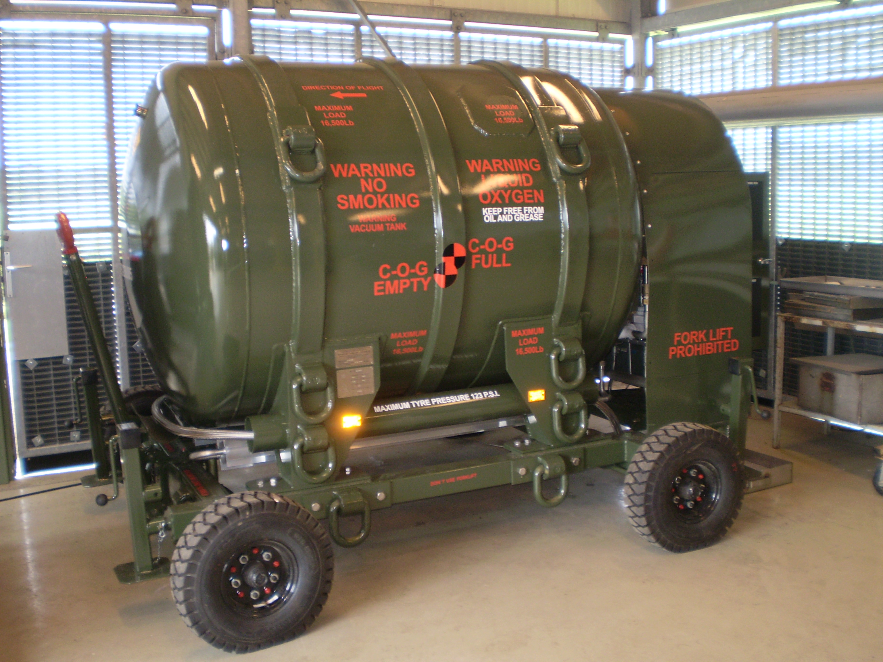 Liquid Oxygen Vessel for Airfield Support